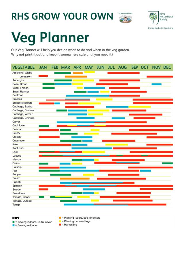 RHS Veg Planner – Carrot Tops Allotment