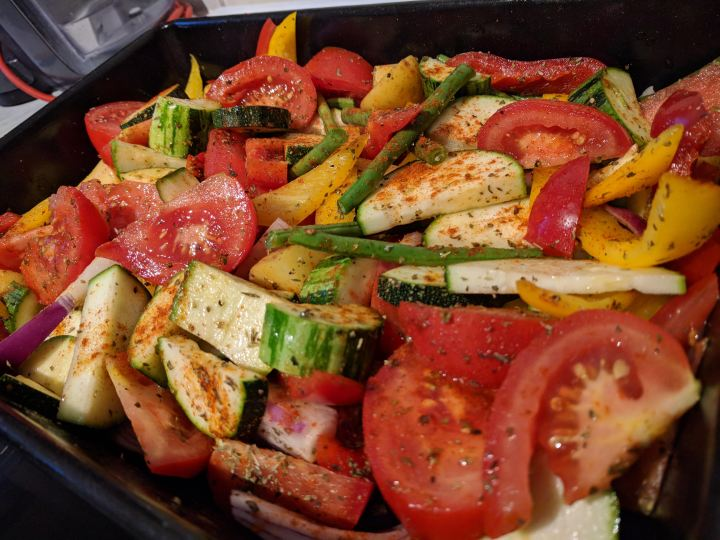 Paprika roasted vegetables